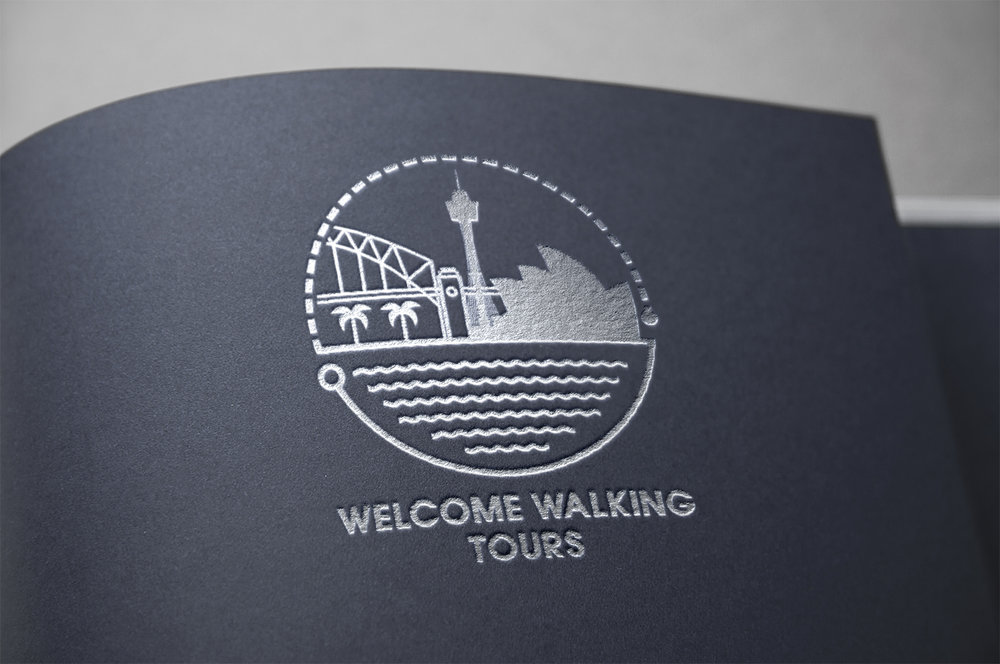 The new Welcome Walking Tour's logo