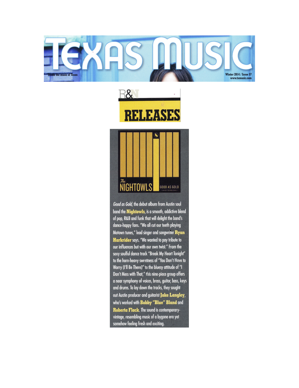 The Nightowls_Texas Music Magazine_Winter 2014.jpg