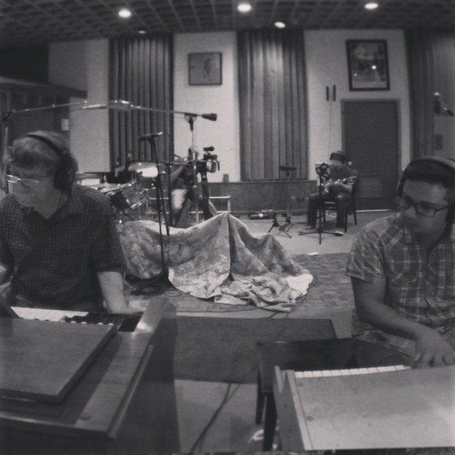 Spooner Oldham and Oscar Interiano at Fame Studios in Muscle Shoals, Al