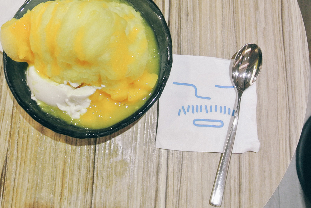 Mango Avalanche at Ice Monster - Mango shave ice, mango sorbet, diced mangoes, and soft tofu