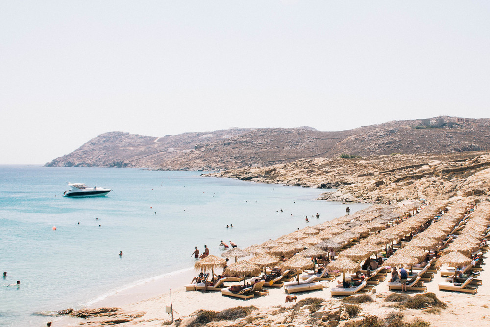Elia Beach, Mykonos Greece