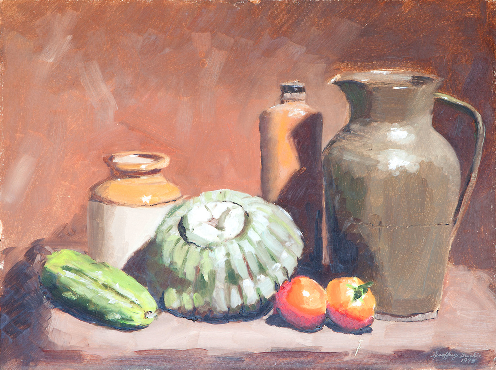 Jug and Vegetables