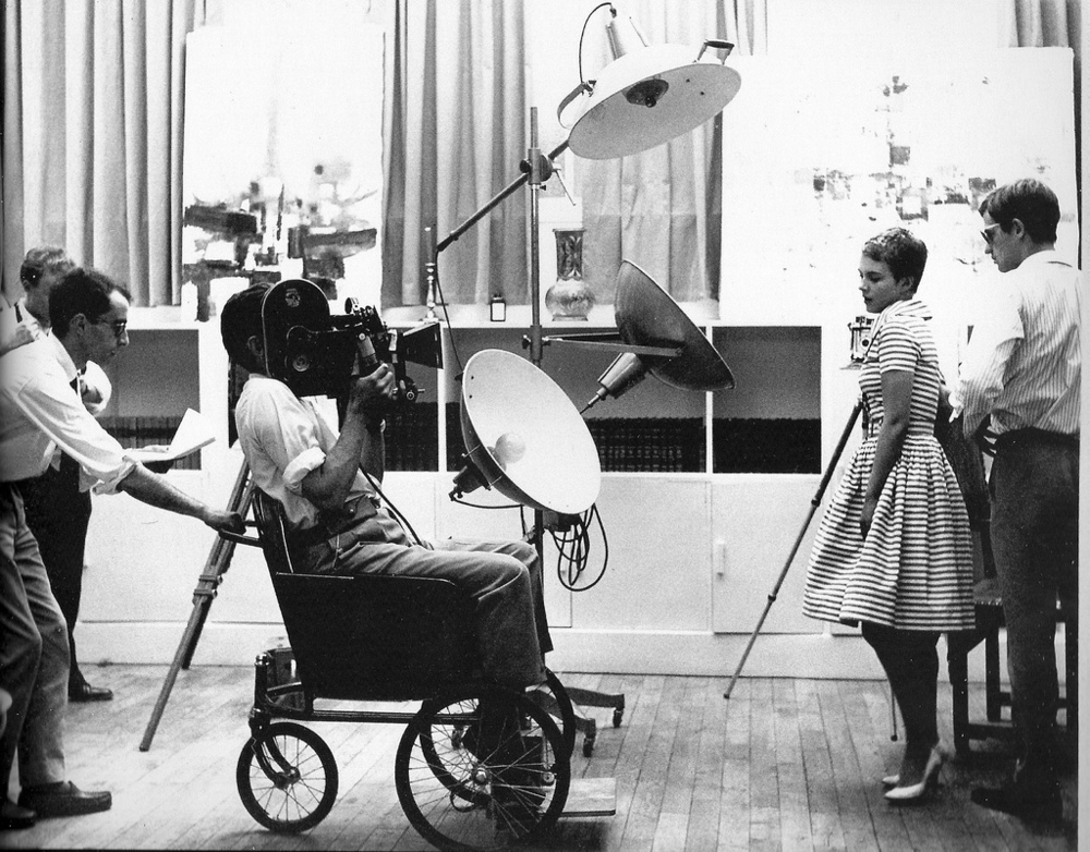 Jean-Luc Godard on set on Breathless 1960