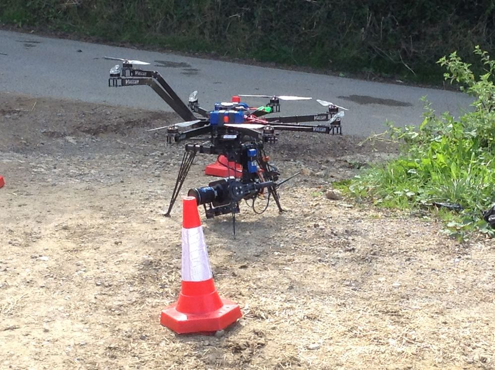 The Octocopter with a Blackmagic camera