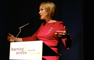 Lucy Worlsey at Learning on Screen Awards 2014
