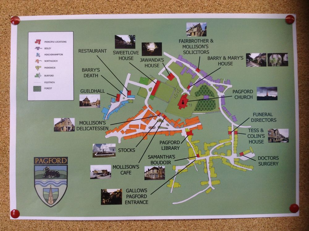 The location map of Pagford in A Casual Vacancy
