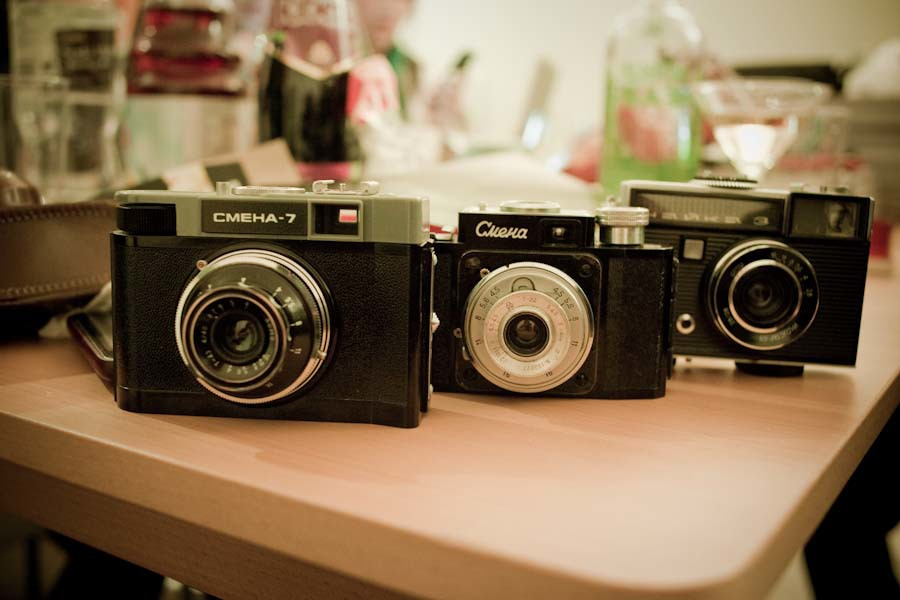 Vintage cameras from St. Petersburg thanks to Z.