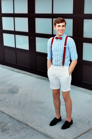 lookbookguys :      w  18th      I think I like bowties and suspenders.