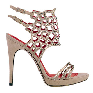 ohmyheels: Cesare Paciotti Jewelled Cut-Out Sandals. starting to like the strappy thing!