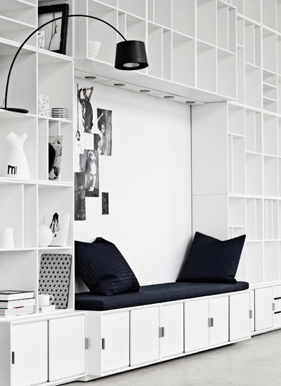 fromscandinaviawithlove :     Storage system from Danish   Montana Møbler  .     gorgeous!