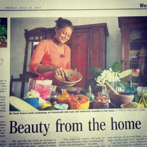Nazli Straits Times 26 July 2013 Beauty From The Home.jpg