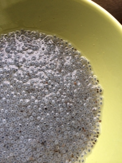 Soaked Basil Seeds