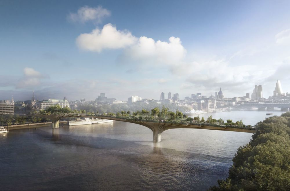 rendering of garden bridge