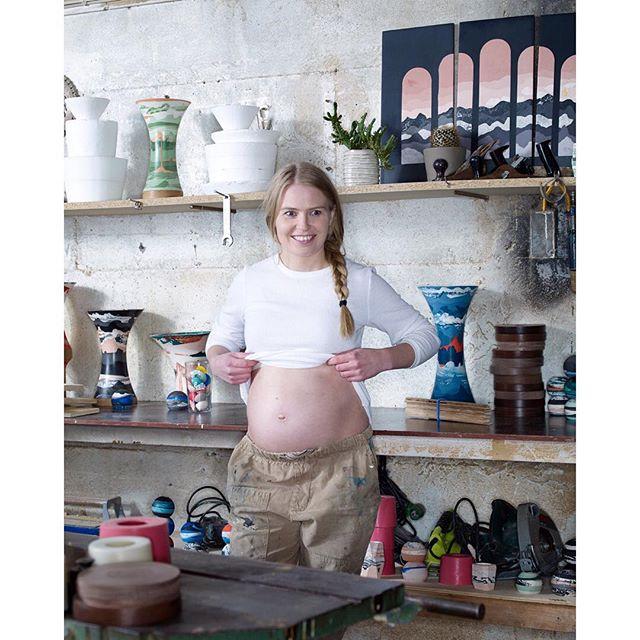 Inbetween a shoot for Elle Decor #ragnaragnarsdottir #mystudioinIceland #morethenhalfwaythere #studio #littleworkerinthemaking