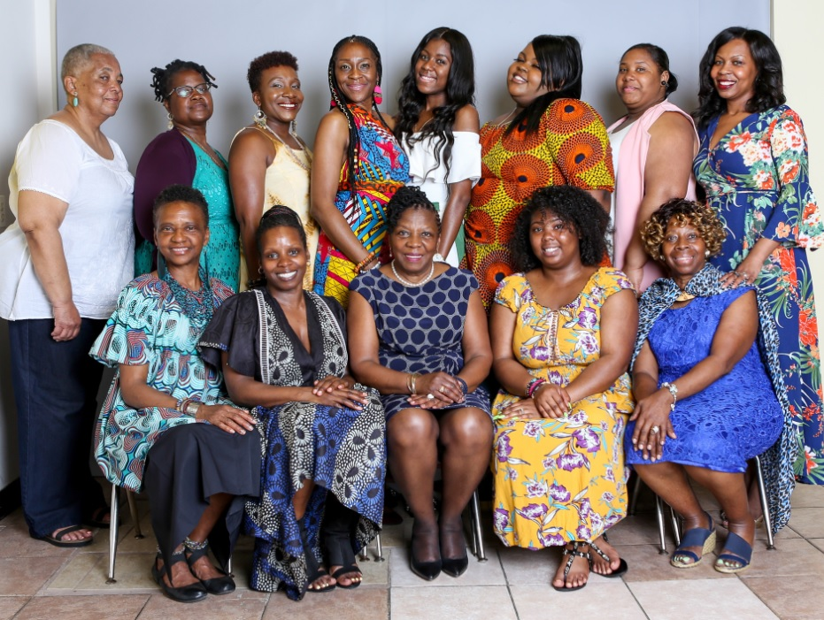From Left (top row) : Mama Tracey, Mama Linda, Mama Jazzmyne (bottom row) Mama Amril, Mama Ayoka, Mama Fela, Mama Aaliyah, Mama Faye