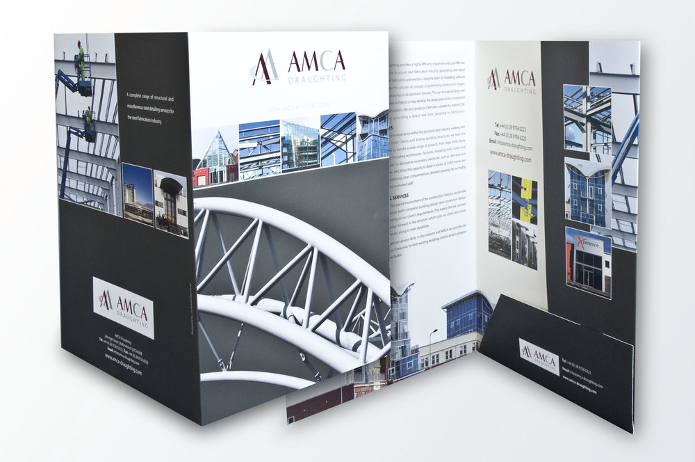 Folder design for AMCA Draughting, Co. Down