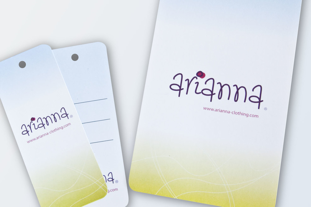 Brand identity design for Arianna fashion labels, Belfast