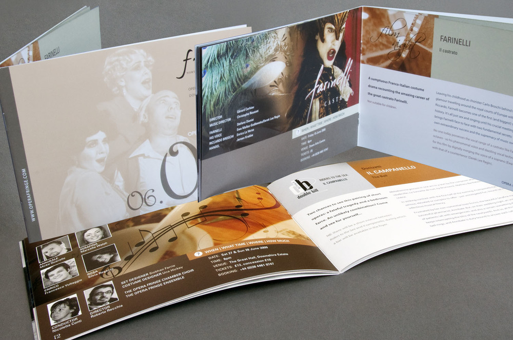Performance brochure for Opera Fringe