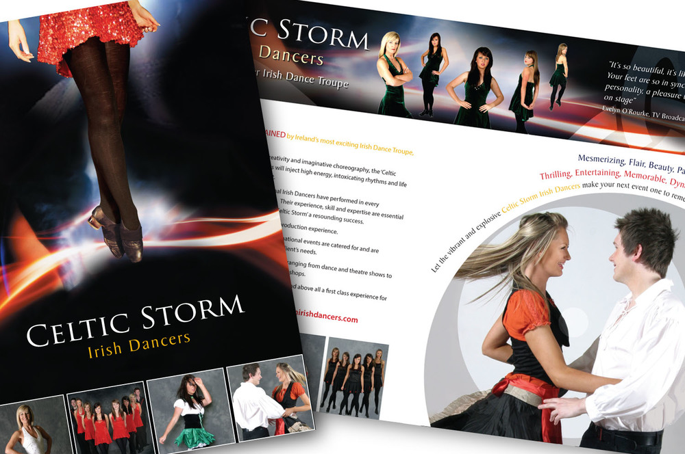 Design of promotional brochure for Celtic Storm, Co. Down
