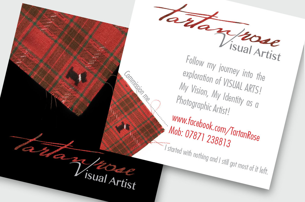 Brand identity design for Tartan Rose