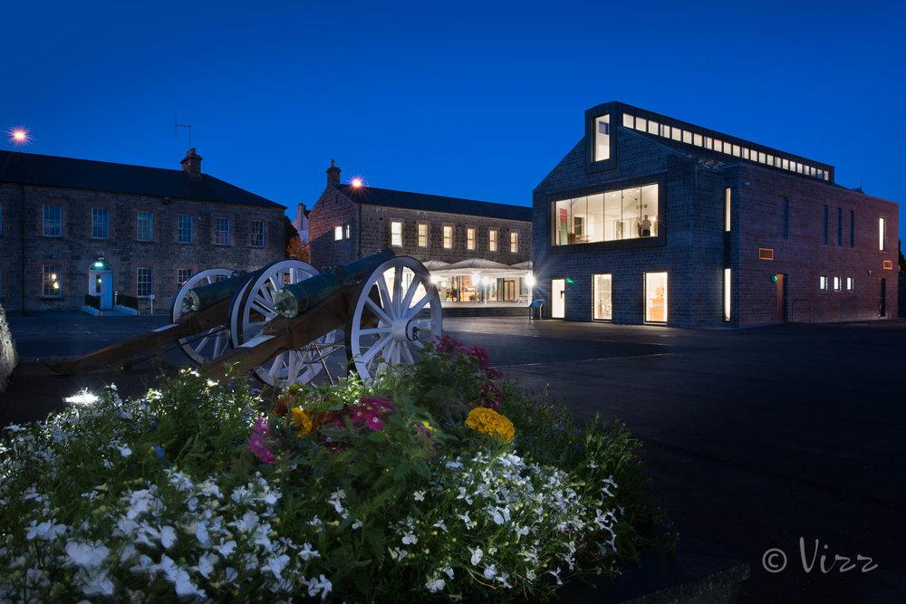 Enniskillen Castle Museums - Exterior night shot