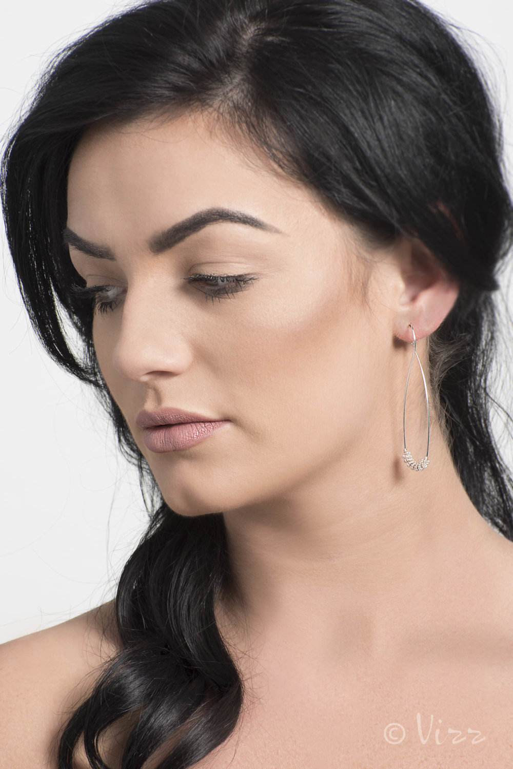 Client: Nua Jewellery. Model, Christina Stafford
