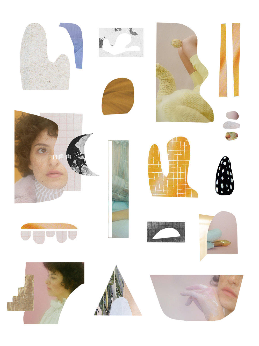 collage of alia shawkat | photos of alia by carlotta guerrero for nylon magazine