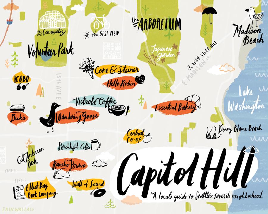 Seattle Illustration Amp Design  Erin Wallace  Capitol