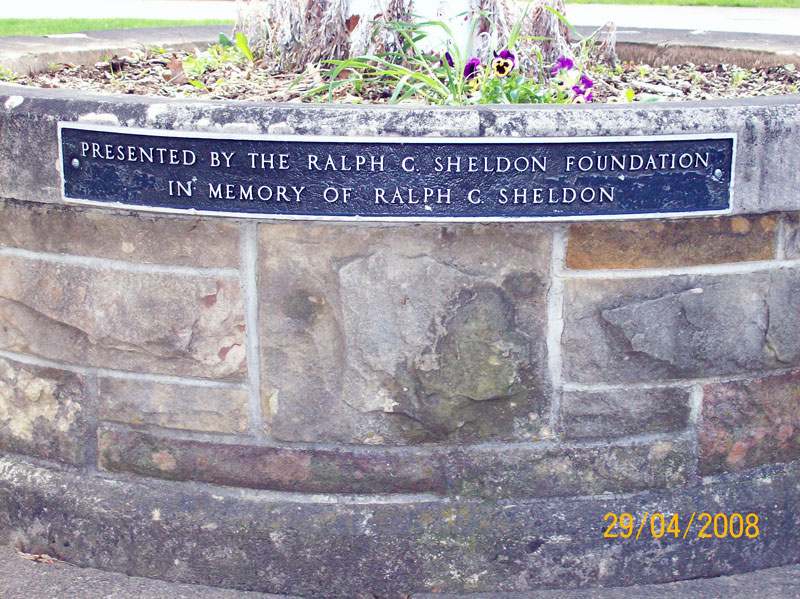 Flagpole dedicated to Ralph C. Sheldon