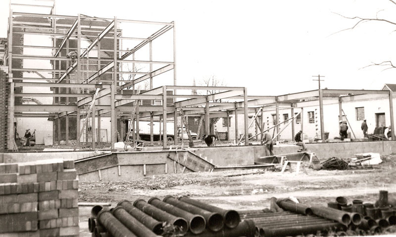 "WCA ""C Wing"" Addition under construction, 1965"