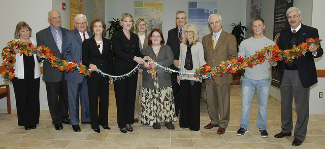Ribbon Cutting Science Bldg Nov. 2011.jpg