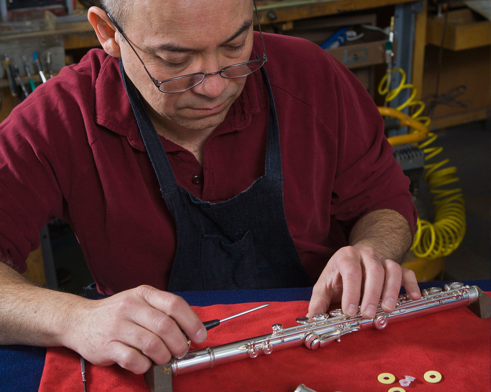 Juan Arista, Master Flute Maker Photo by John Burke Photography