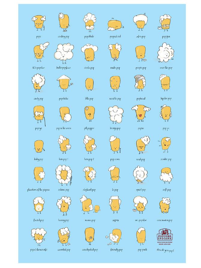 Popcorn Indiana Characters