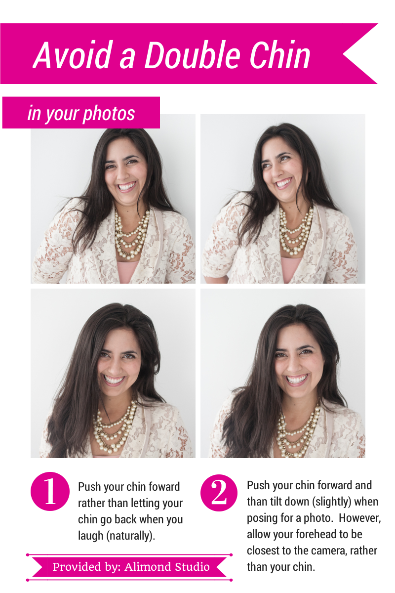 How to avoid a double chin in photographs