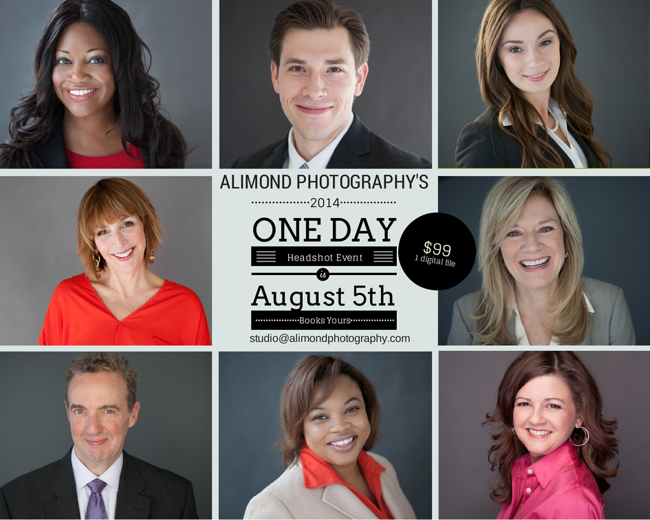 2014 Alimond Photography Annual Headshot Day Sale