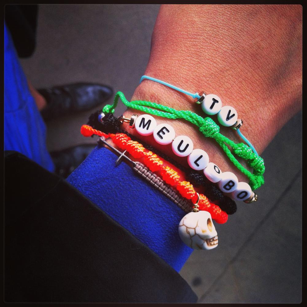 Taisa Veras in her custom made RP bracelets
