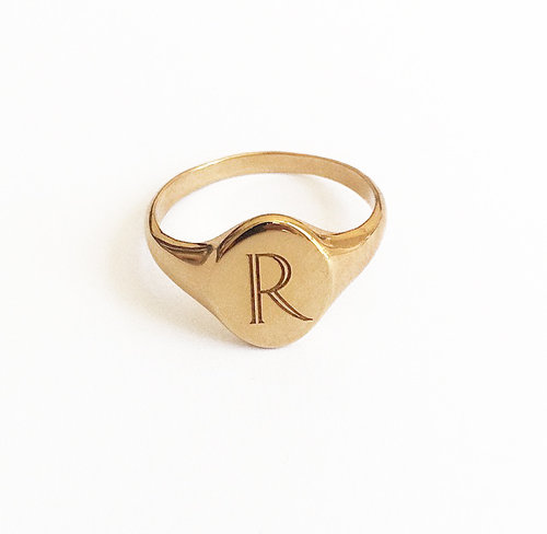 Favorite CUSTOM LETTER SIGNET RING — RYAN PORTER VJ05