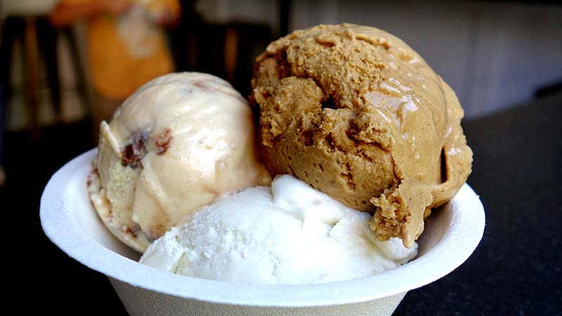 alt=triple scoop of ice cream in NYC best ice cream shop