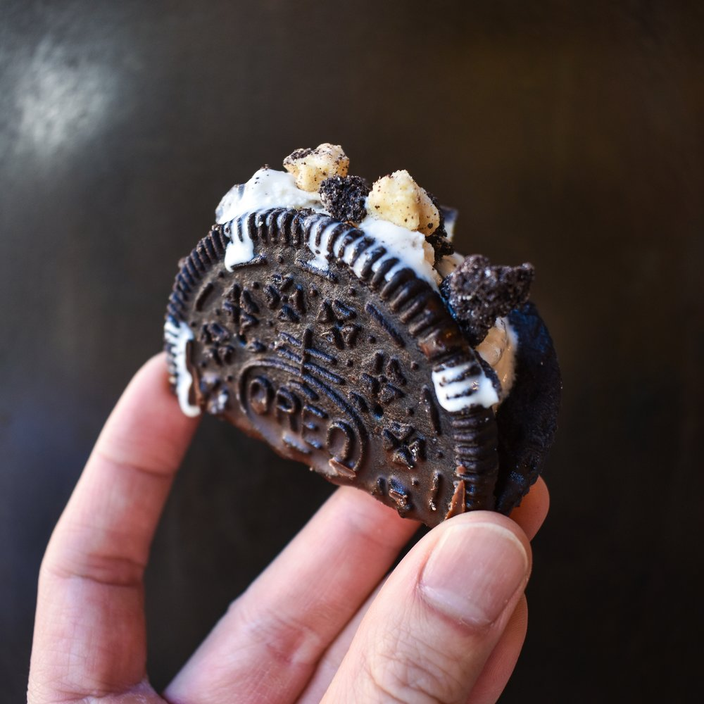 NYC best ice cream frozen dessert shop OREO tacos
