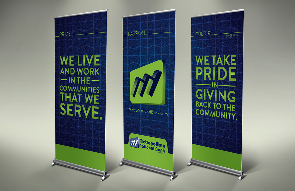 Metropolitan National Bank Trade show Banners