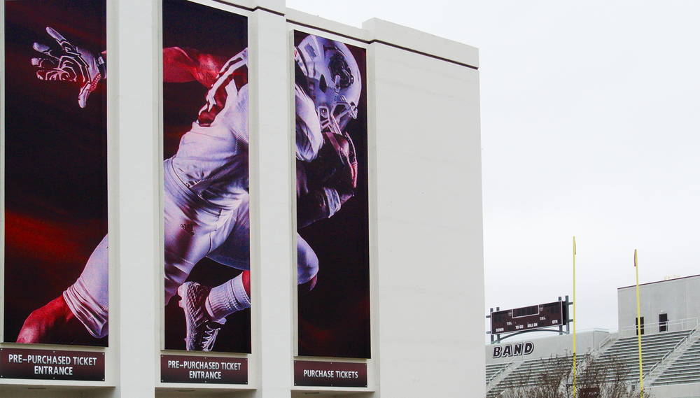 SILVER AWARD: MSU Athletics Stadium Banners