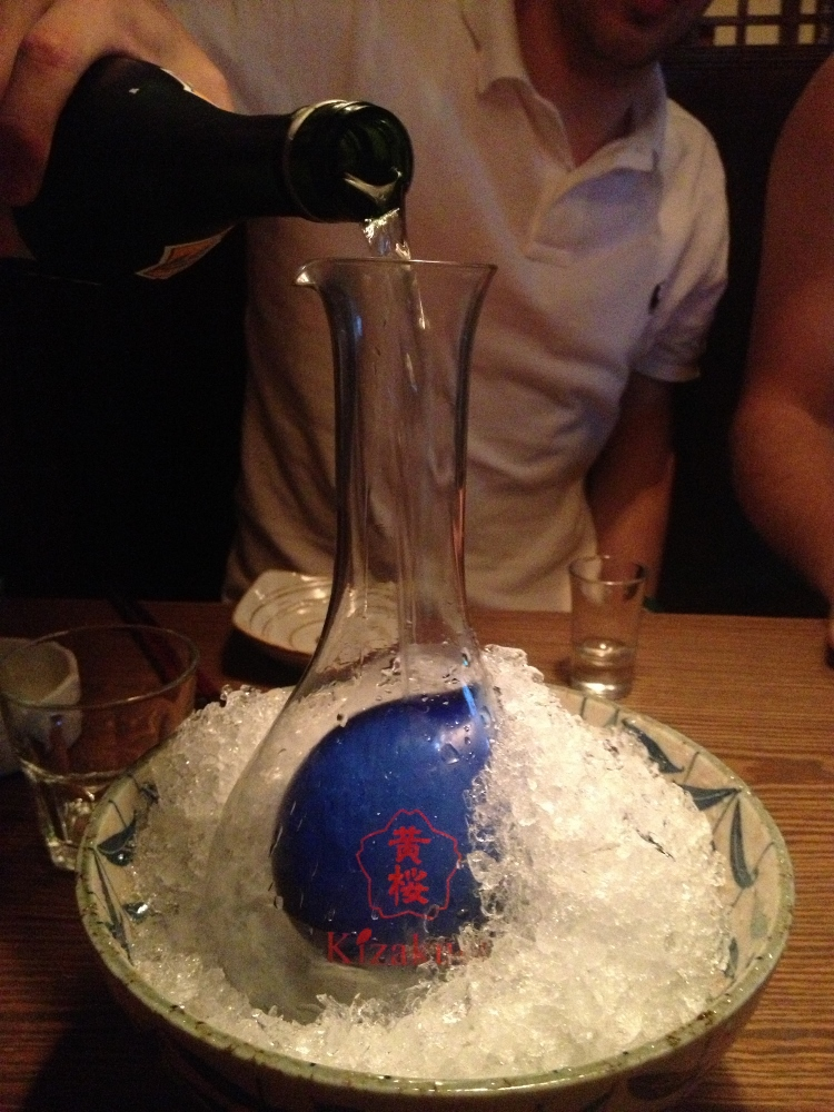 Decanting the sake