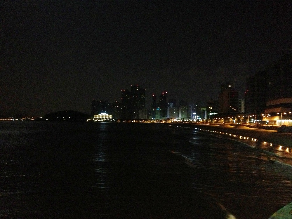 A fairly bad picture of Haeundae Beach from near the end of it