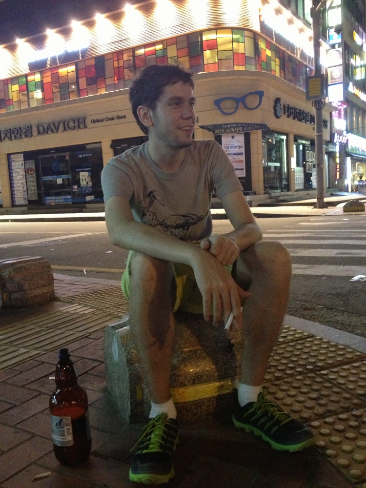 Chase out drinking in the streets of Haeundae