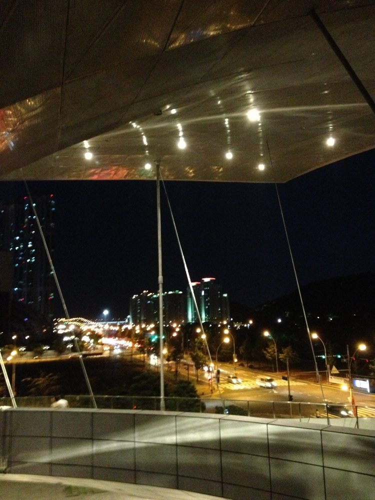 A view from the elevated pathways of Busan Cinema Center