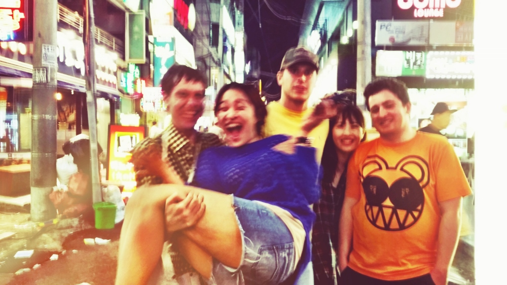 Chase, April, Craig, Yuree and me outside Thursday Party after many LITs