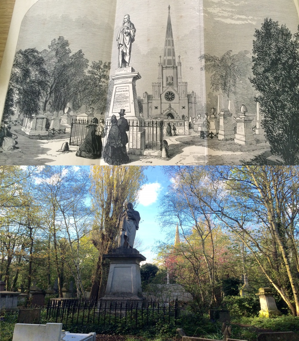Abney then and now; above: an 1868 rendering / below: my attempt to recapture it in 2016
