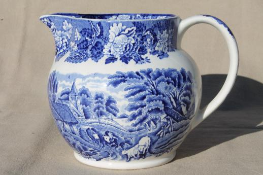 Woods-Ware-English-Scenery-milk-jug-pitcher-cows-vintage-blue-white-transferware-china-Laurel-Leaf-Farm-item-no-s1011281-1.jpg