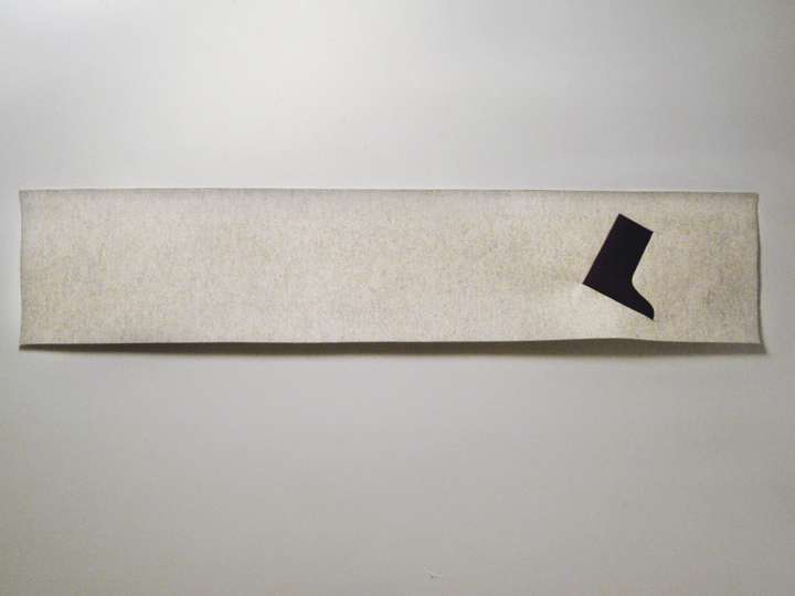 "Polar Bear Pass VI , 2010. Pencil on industrial wool felt hand stitched with silk thread. 15.5"" x 74"""