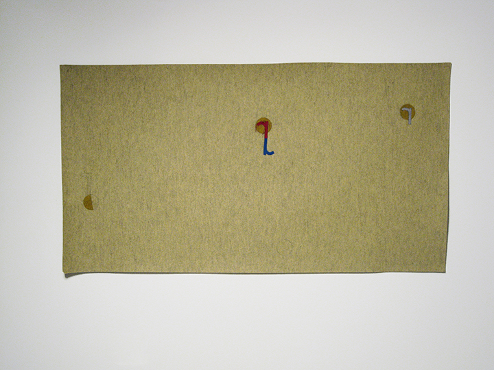 "St r,  2013. Industrial wool felt hand stitched with silk thread. 39.5"" x 72.5"""